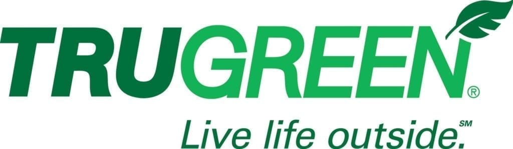 Trugreen logo with their slogan in green lettering below