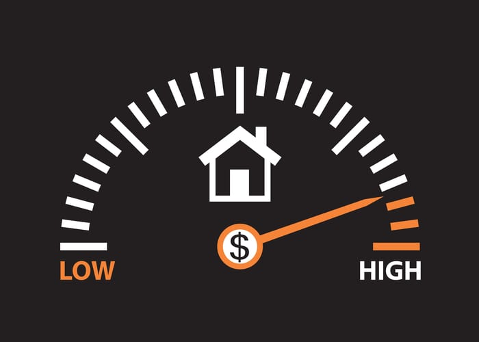 home value is high. real estate prices are going up for a blog post on selling a home fsbo
