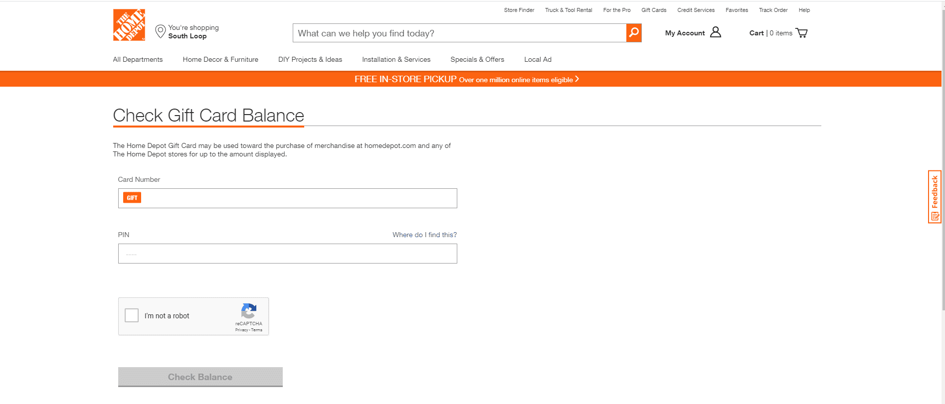 Home Depot Gift Card Balance How To Check Rethority