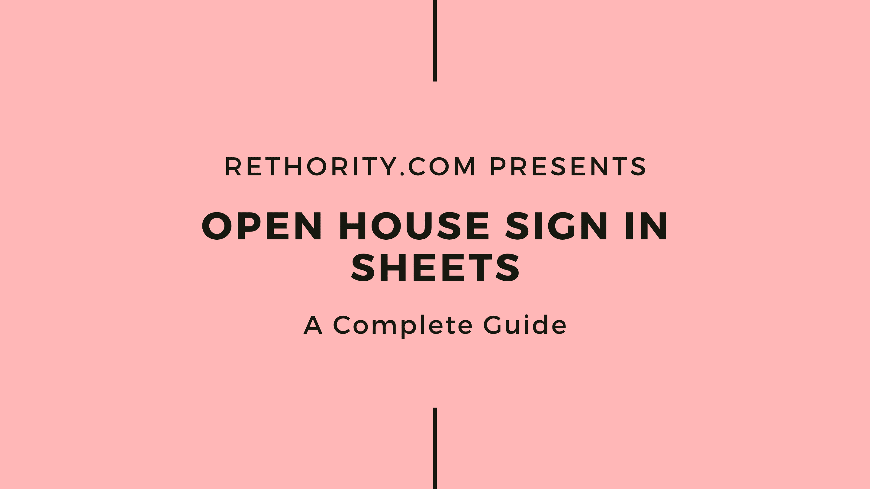 Open House Sign in Sheets against salmon background
