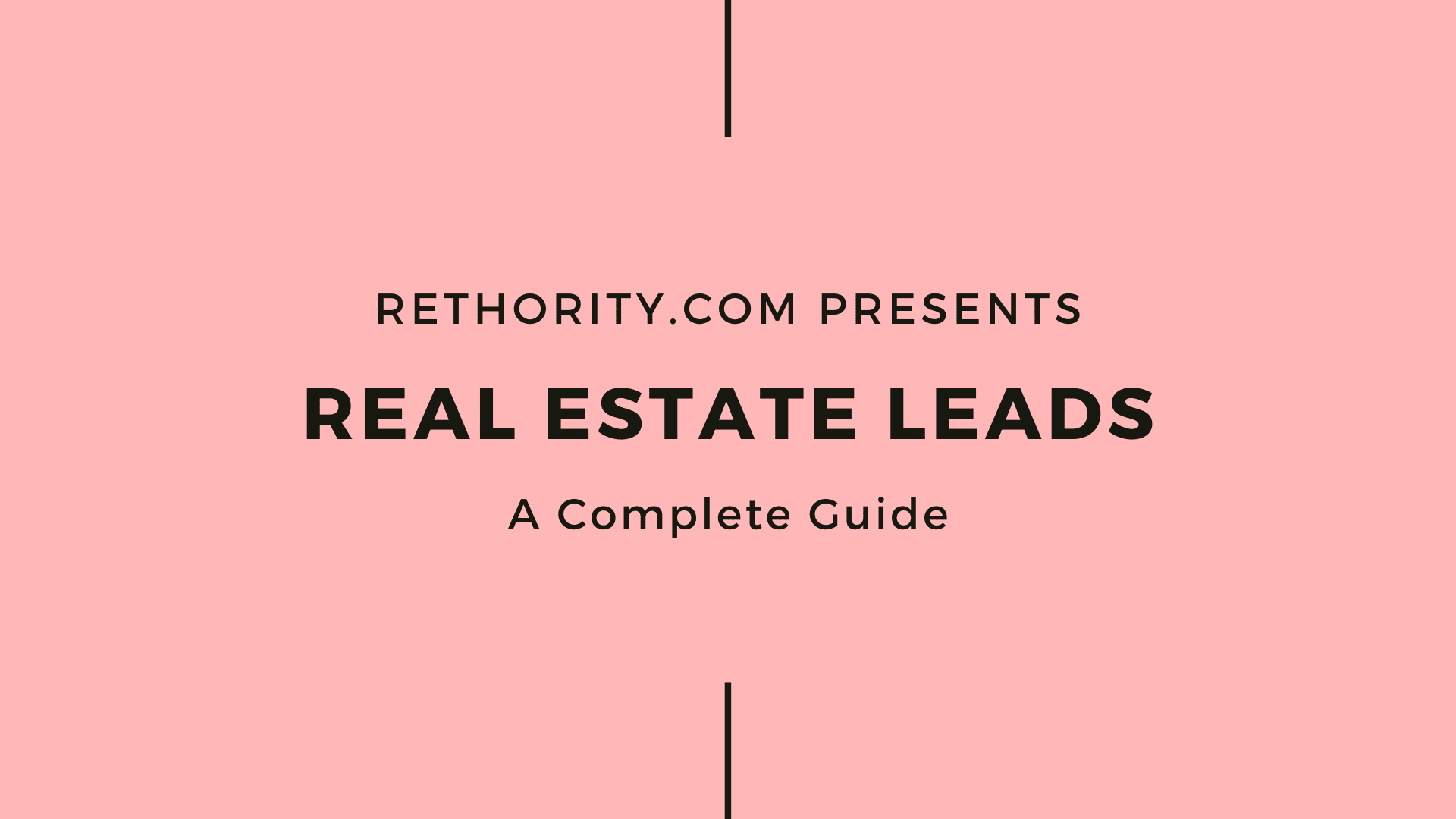 Real Estate Leads graphic against salmon background