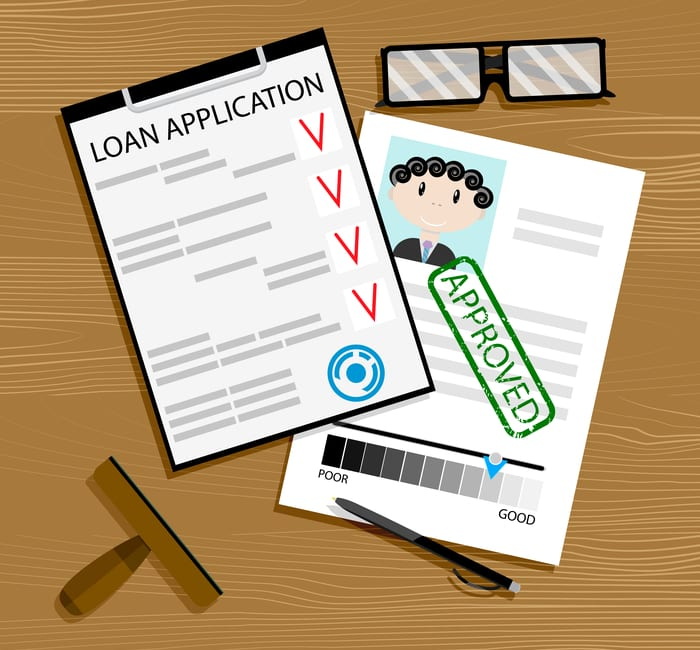 As an image for a piece on the house buying timeline, Loan application approved. Mortgage approval, loan concept, vector car loan approved illustration