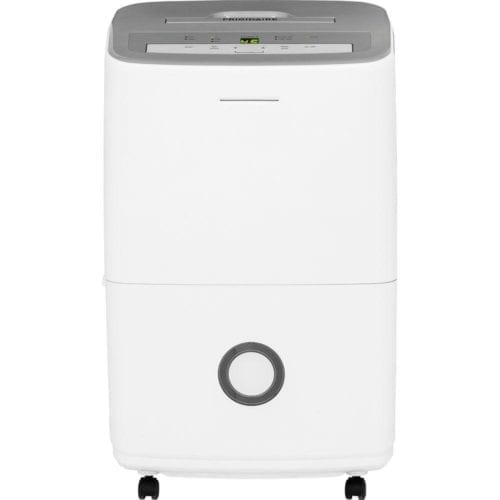 A Home Depot dehumidifier, a Frigidaire Energy Star 70-Pint with Effortless Humidity Control