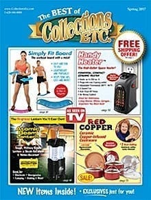 Photo of a Collections Etc catalog