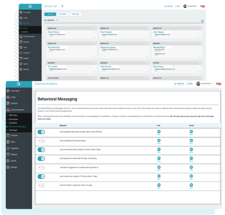 Client retention module in Cinc Pro platform