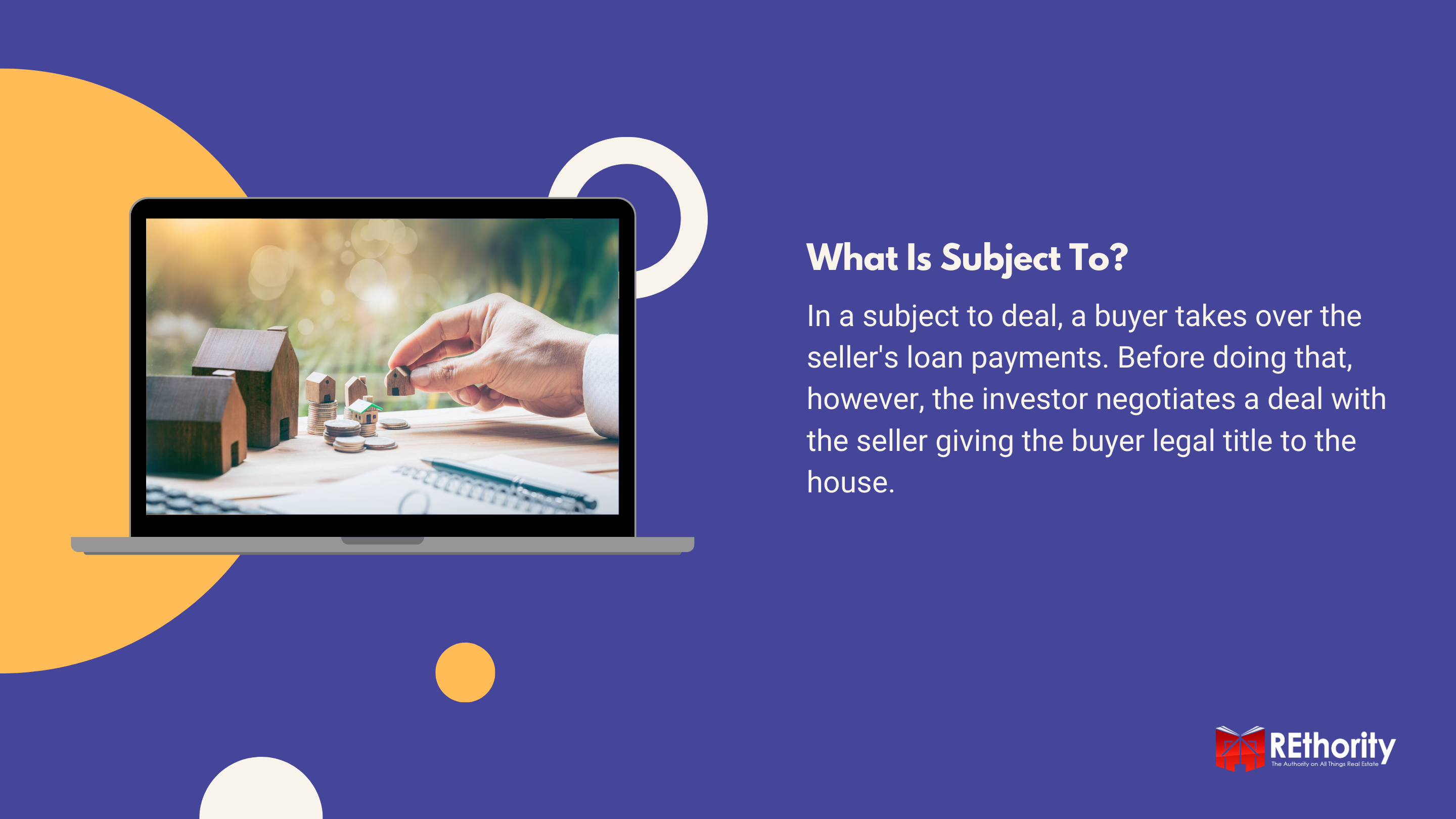What Is Subject To in real estate graphic
