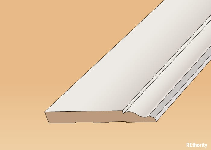 For a piece on baseboard materials, a mdf molding sheet