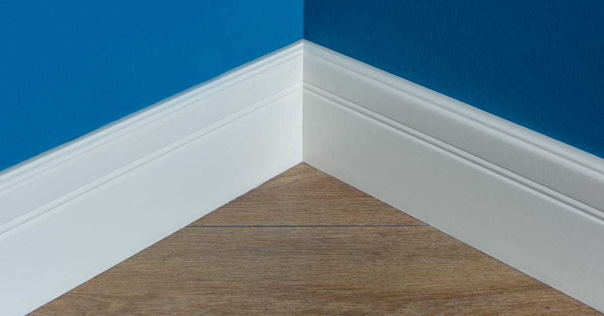 The simple type of baseboard known as the rounded, commonly used in homes