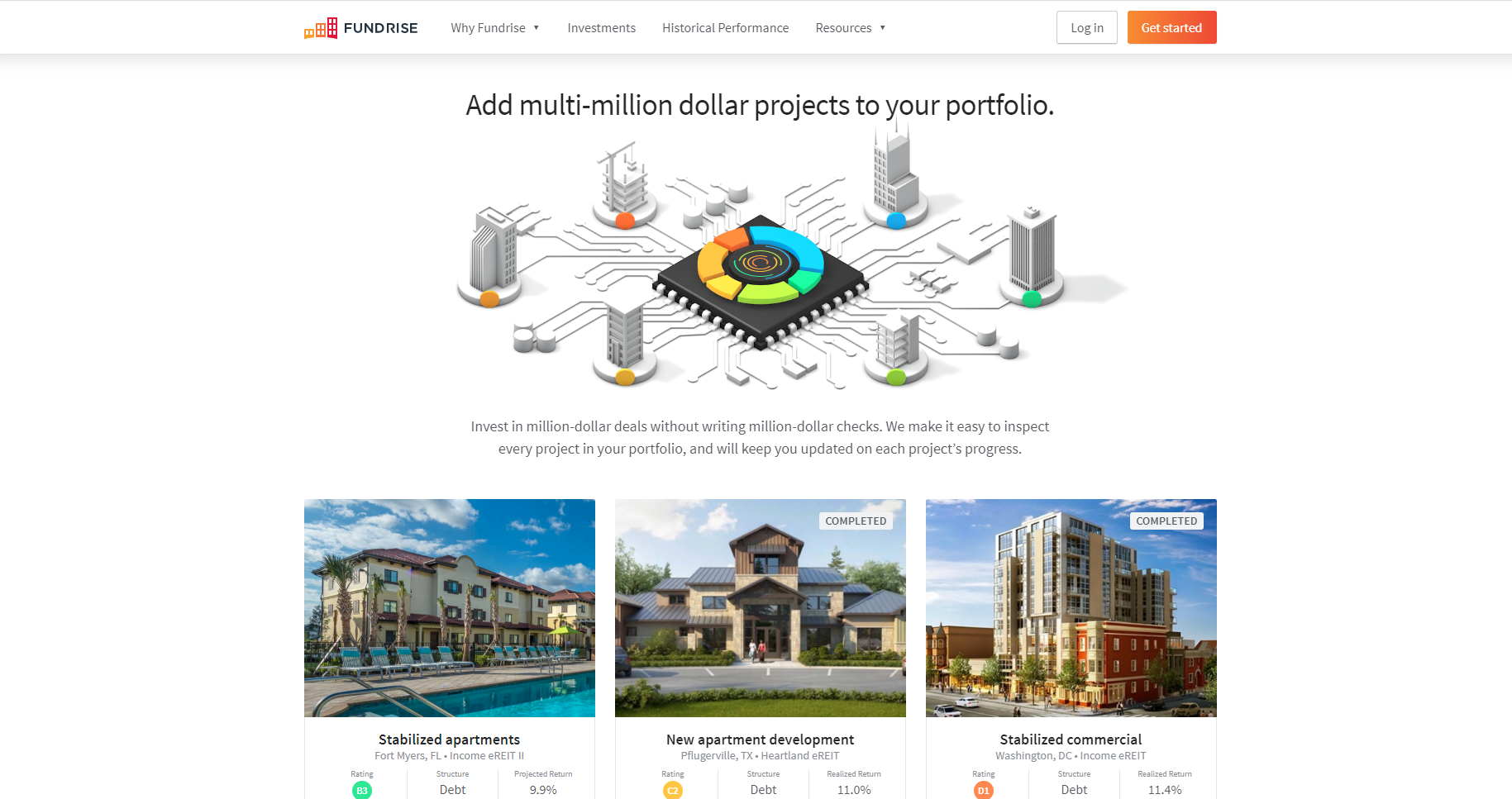 Rundrise real estate crowdfunding platform home page