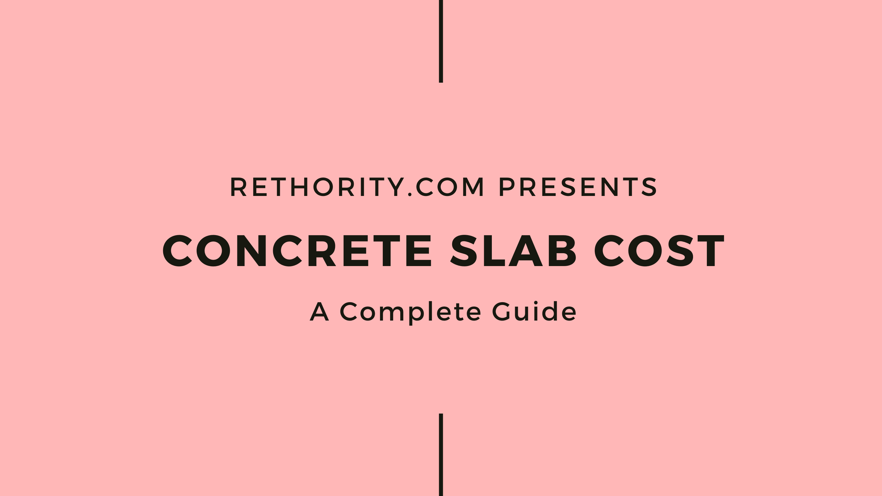 Concrete slab cost graphic against salmon background