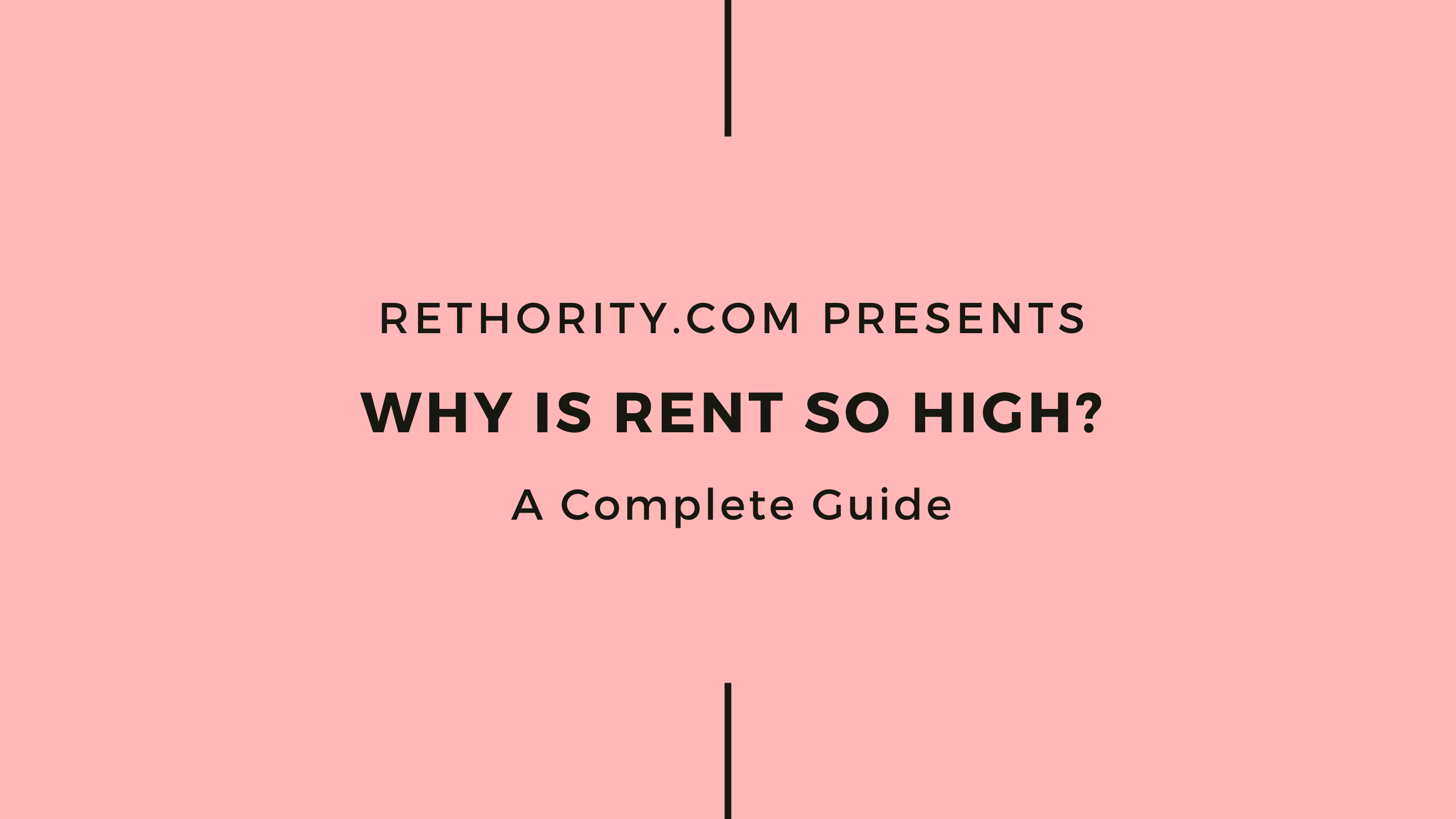 Why is Rent So high graphic against salmon background