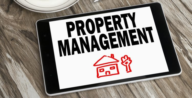 As an image for a piece on Property Management Near Me, property management concept displayed on tablet pc
