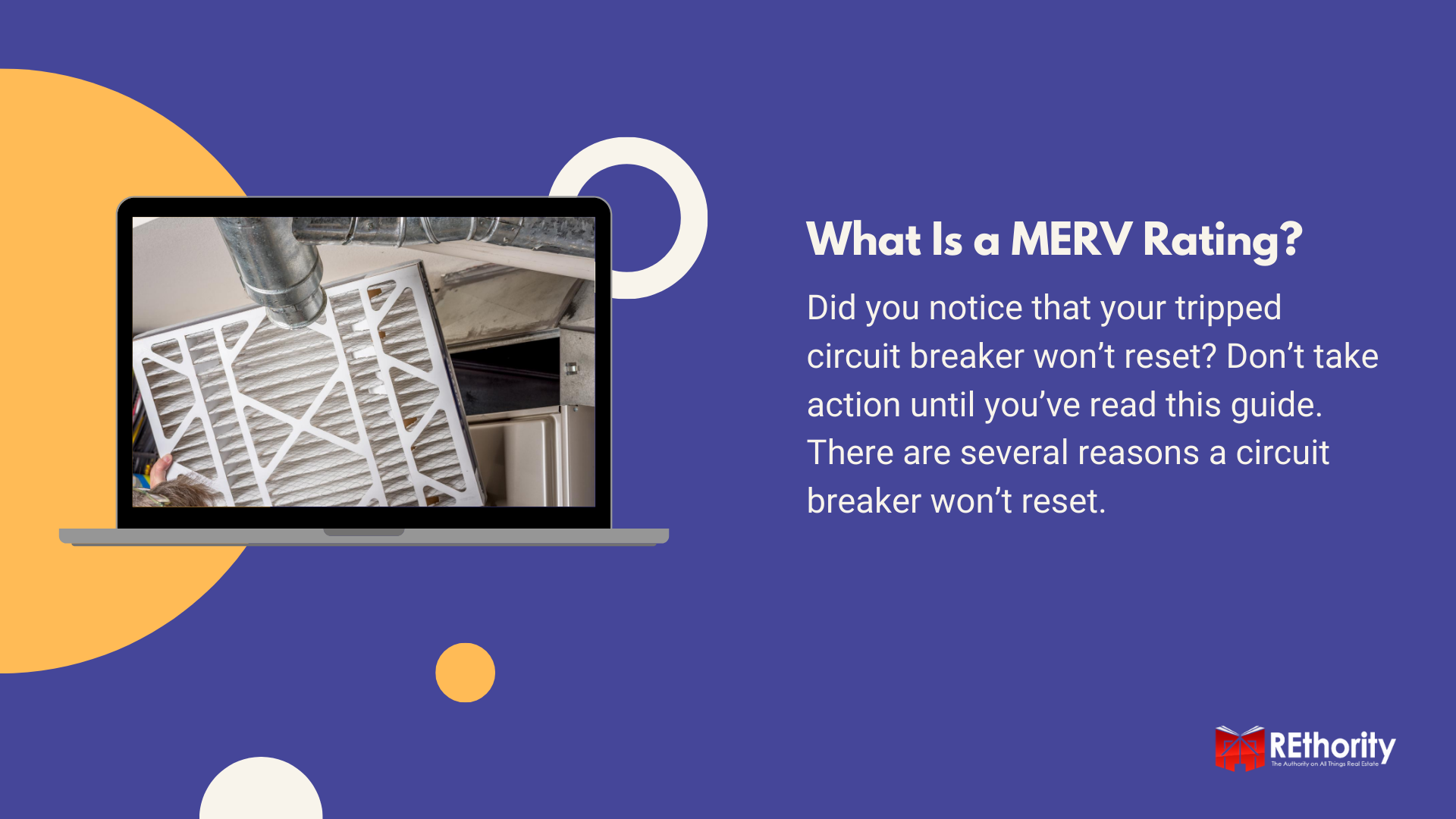 What is a MERV Rating graphic with a furnace filter displayed on a computer screen