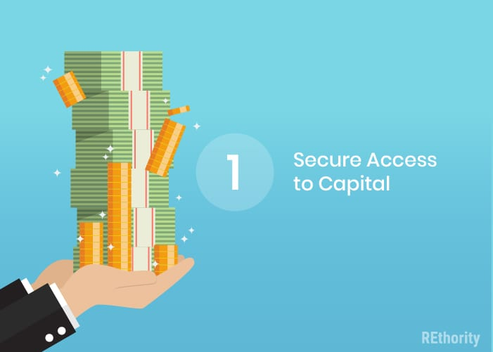 step 1 in how to flip a house is securing access to capital