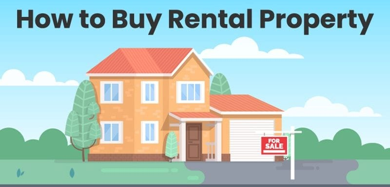 Image titled How to Buy Rental Property featuring a house against a simple blue background