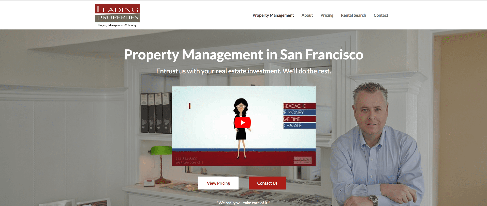 leading properties, San Fran Property Management company website