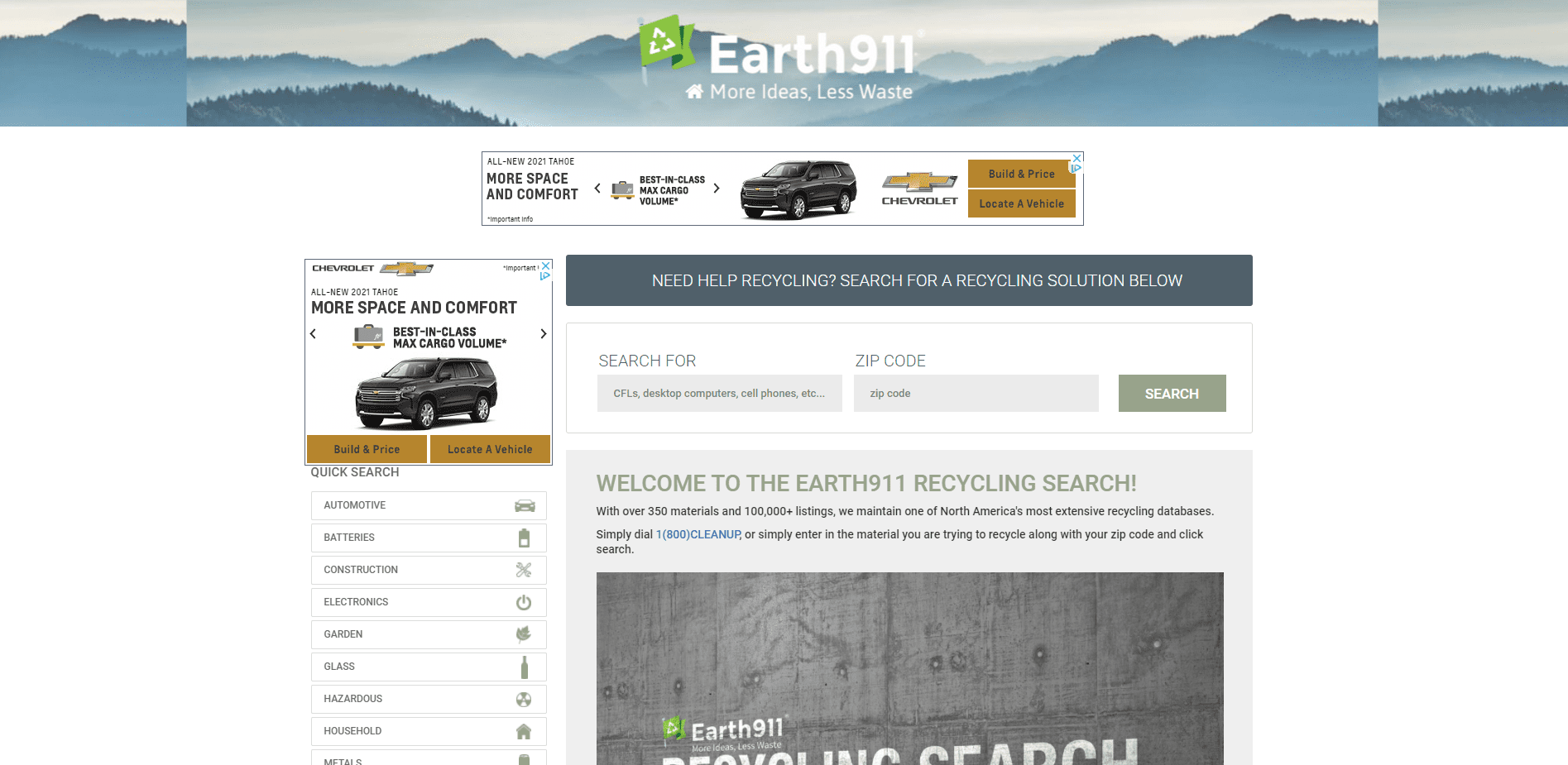 Earth 911 search ideas for a piece on how to dispose of old gas