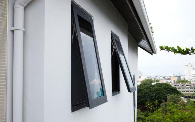 To help answer what casement windows are, two of them in action on a multi-level home