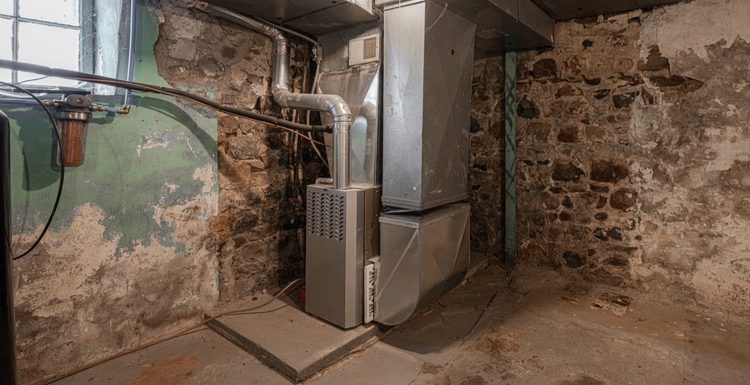 Image of the best furnace brands used in an older home in an unfinished basement