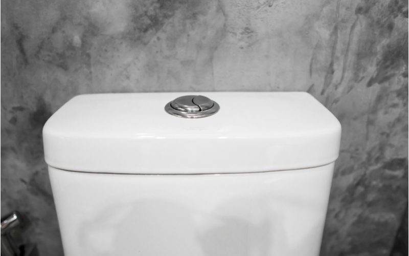 For a piece on the parts of a toilet, a close-up image of a toilet tank