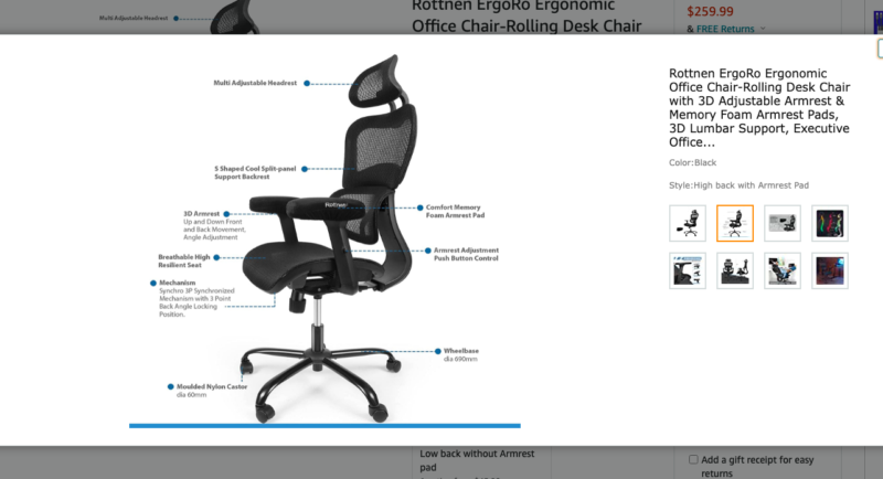 Ergoal One office chair alternative showing how it looks to be dropshipped