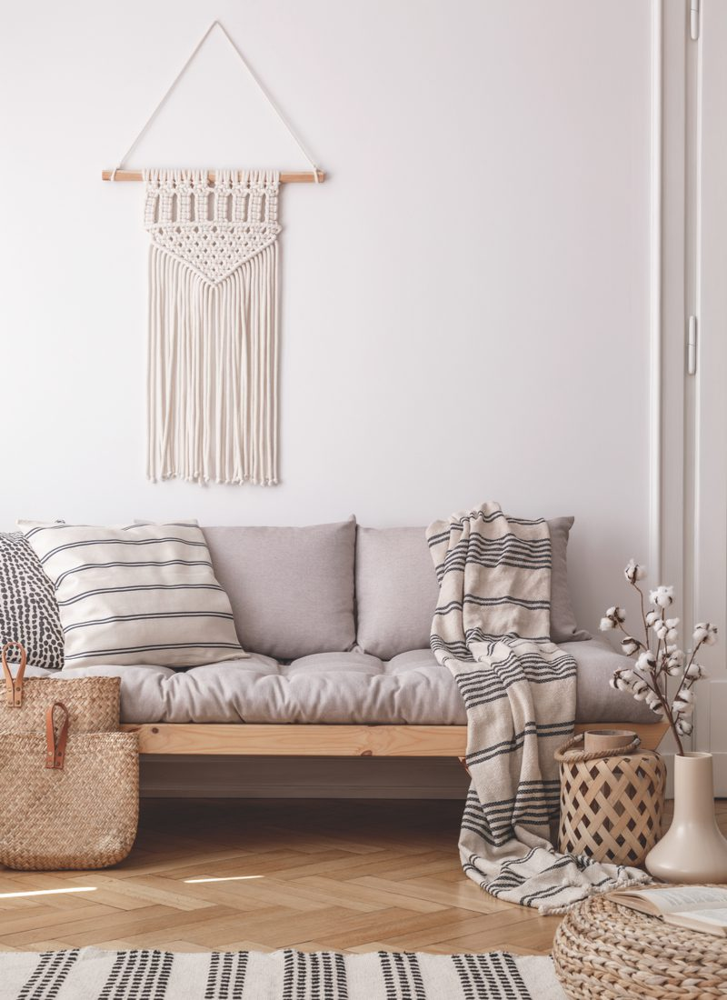 Macramé Wall Hanging in cream color for a piece on wall decor above couch ideas