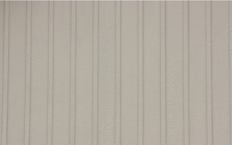 To help answer the question Does Board and Batten Siding Come in Vinyl, this type of siding shown in grey color